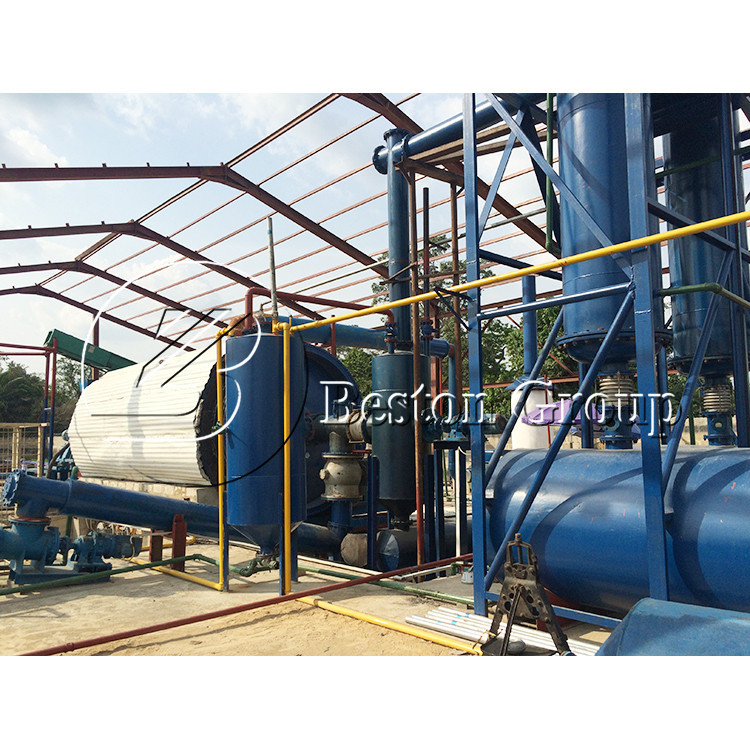 waste management plastic pyrolysis oil Rubber Raw Material Machinery