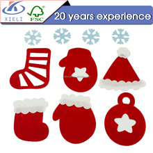 XL125 Various shape cute christmas ornaments wood toys for kids