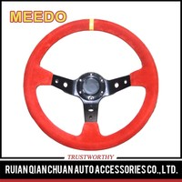 suede leather carbon fiber OMP F1 drift steering wheel