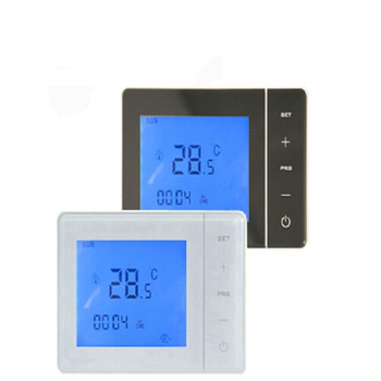 Smart adjustable programmable gas boiler thermostat with battery power