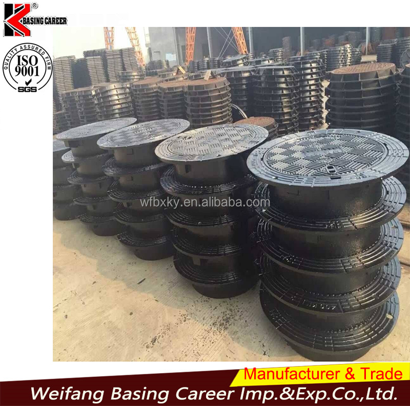 cast iron manhole cover EN124 for construction use