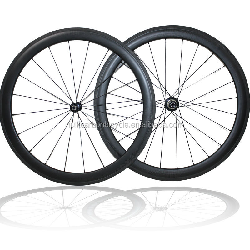 <strong>U</strong> shape 25mm wide 700C Full carbon fiber clincher carbon wheelset with Novatec A271SB/F372SB hubs