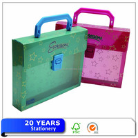 Manufacturer Japan A4 plastic document briefcase/holder with handle