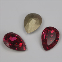 Top quality k9crystal siam teardrop pointback crystal stones for clothing