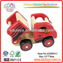New Design Mini Natural Color Wooden Dump Truck Kid Toys