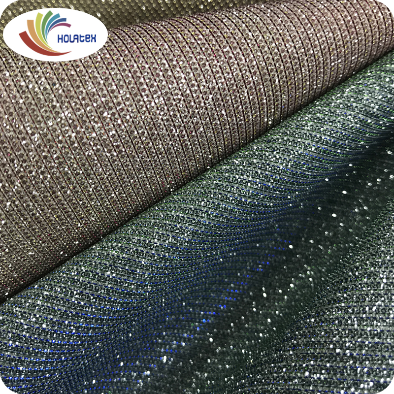 Make to Order high quality 100% pu synthetic color change glitter leather for shoes upper