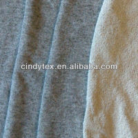 french terry heather grey cvc fleece fabric