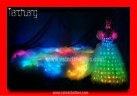 Programmed Full color LED Wedding dresses with long trains