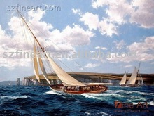 Ocean waves sailboat best quality oil paintings