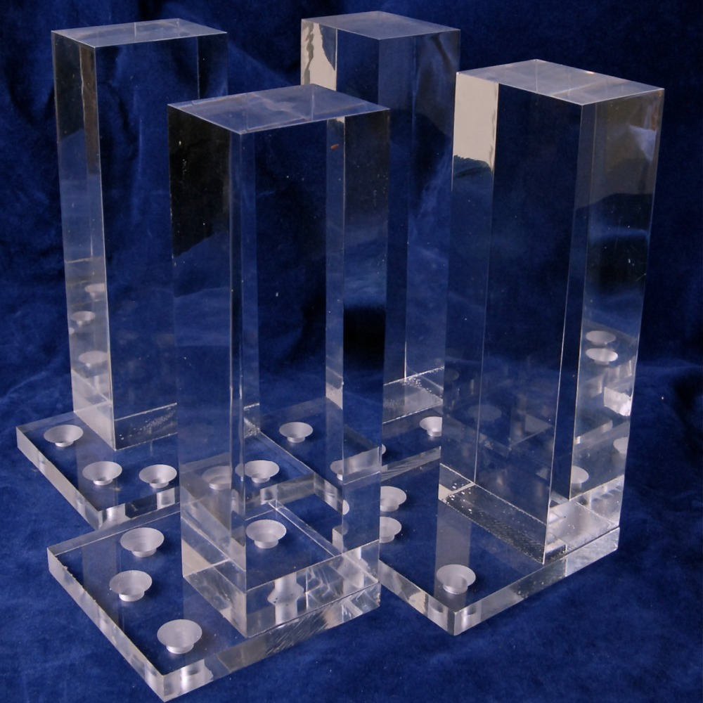 Custom Clear Acrylic Lucite Furniture Legs Table Legs