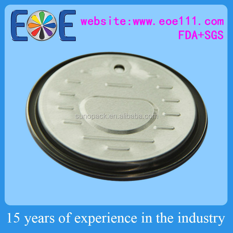 Jamaica 211 aluminium can lid 65mm dry powder easy open lid