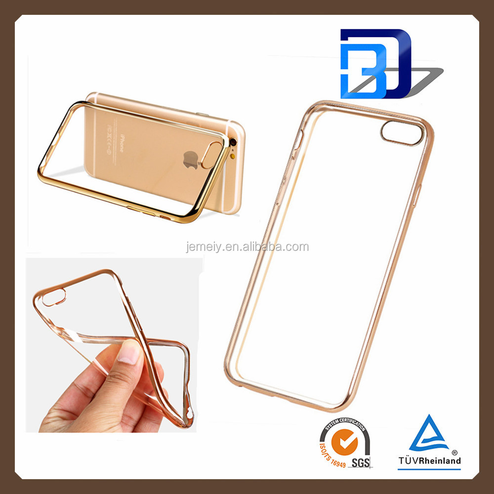 Wholesale China Transparent Electroplating Bumper Soft Clear TPU Back Cover Ultra Thin Cell Phone Cases For iPhone5 5S TPU