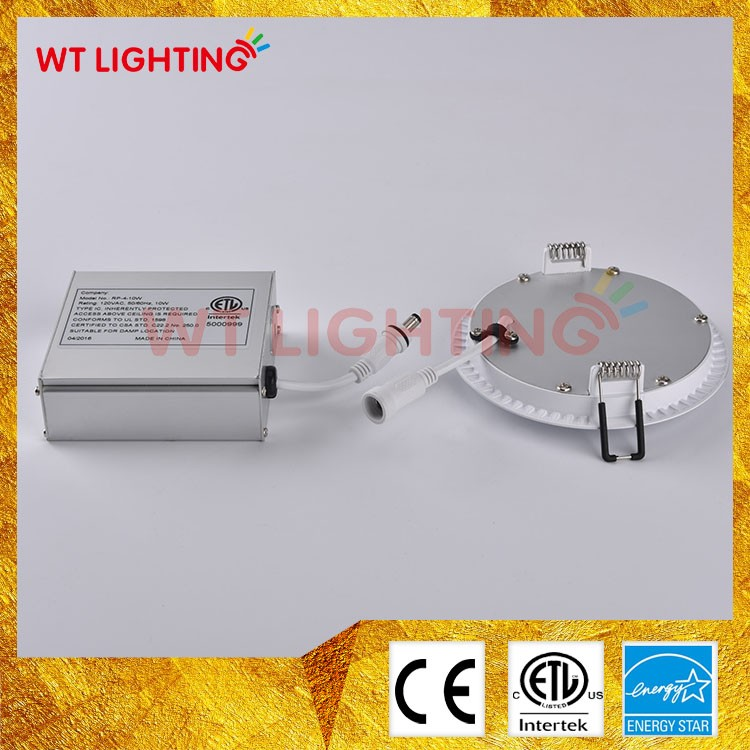 Type IC rated led disk light led downlight no housing required etl certified