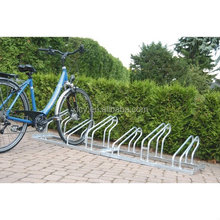 Galvanized Floor Mounted Four Bike Storage Rack