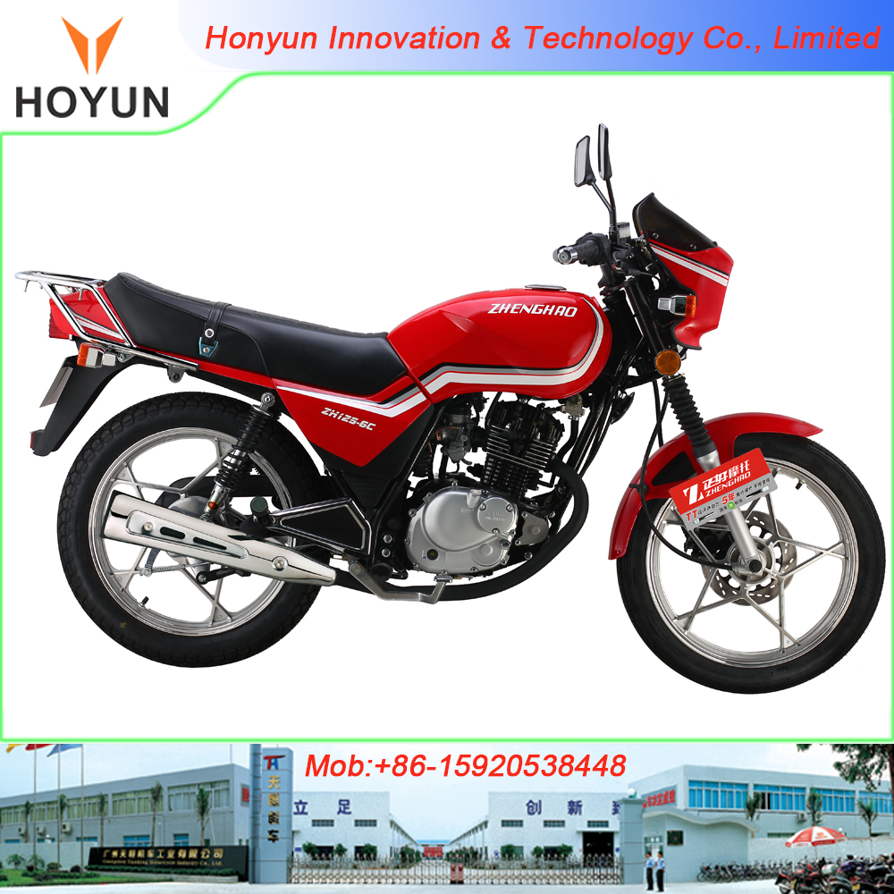 Hot sale in Haiti Ghana with Qingqi GS engine HOYUN GS125 motorcycles