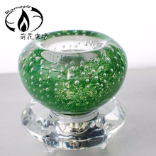 Air bubble tear drop glass candle holder