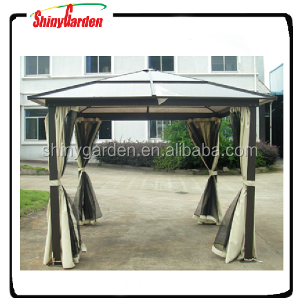 10'x10' Deluxe outdoor Aluminum polycarbonate gazebo pc roof canopy