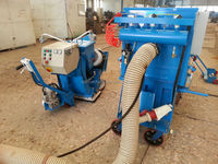 Clear surface laitance road surface floor shot blasting machine