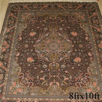 Luxury Comfortable pure silk aubusson carpet rugs