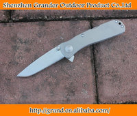 AUS-8 steel blade Hunting camping knife 6061-T6 Aluminium Alloy handle tactical folding knife sharper DREAM5700