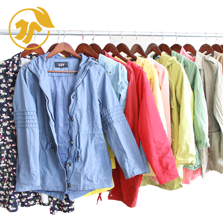 Women Windbreaker Second Hand Clothes Used Adult Clothing Ladies Clothing