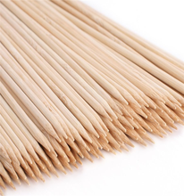 36 Inch smooth bamboo fan sticks for marshmallow roasting