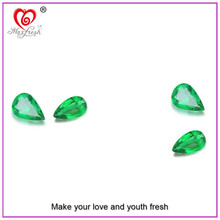 2015 Factory Wholesale Machine Cut Grade AAAAA Cubic Zirconia Pear Shaped Green Cubic Zirconia Emerald Cubic Zirconia
