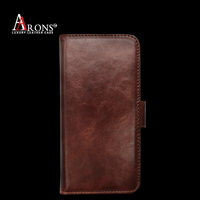 Premium leather phone flip folio wallet case card slot case for iphone6 cover
