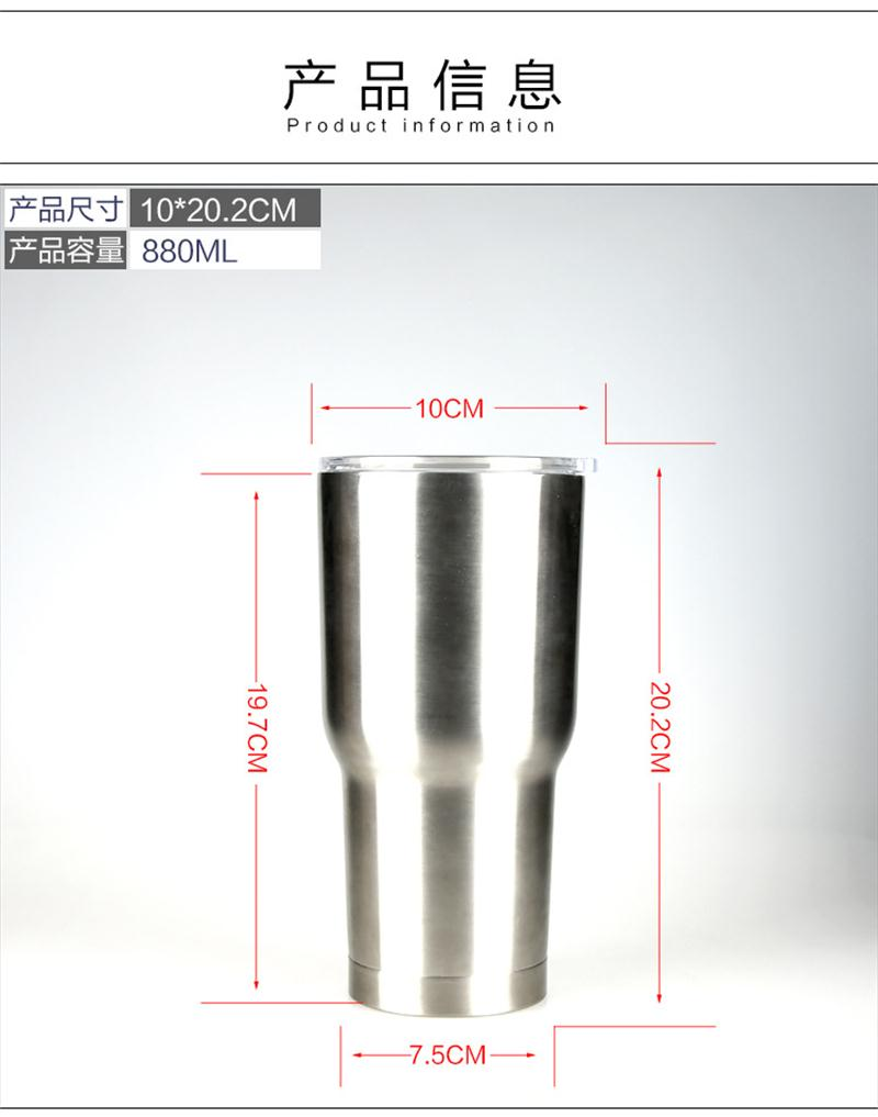 New product 100% stainless steel vacuum flask