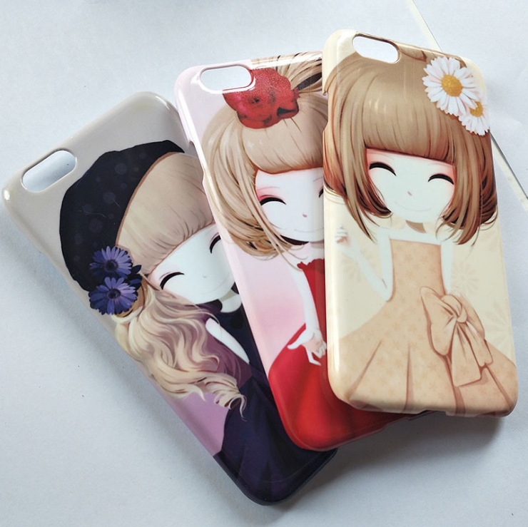 Custom Design DIY 3D Sublimation IMD Printing PC Mobile Cell Phone Cover Case shell for i5 i6 i7 6P 7P