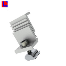 sliver anodized 6000 series extruded aluminum mounting solar system bracket