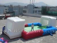 12X6m inflatable soap soccer football court field playground for kids and adults