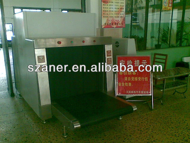 The Largest size airport x-ray security luggage scanner with two kinds of energy switch display for knife,guns and weapons