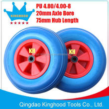 4.80 / 4.00-8 PU solid rubber wheel 400mm PP hub