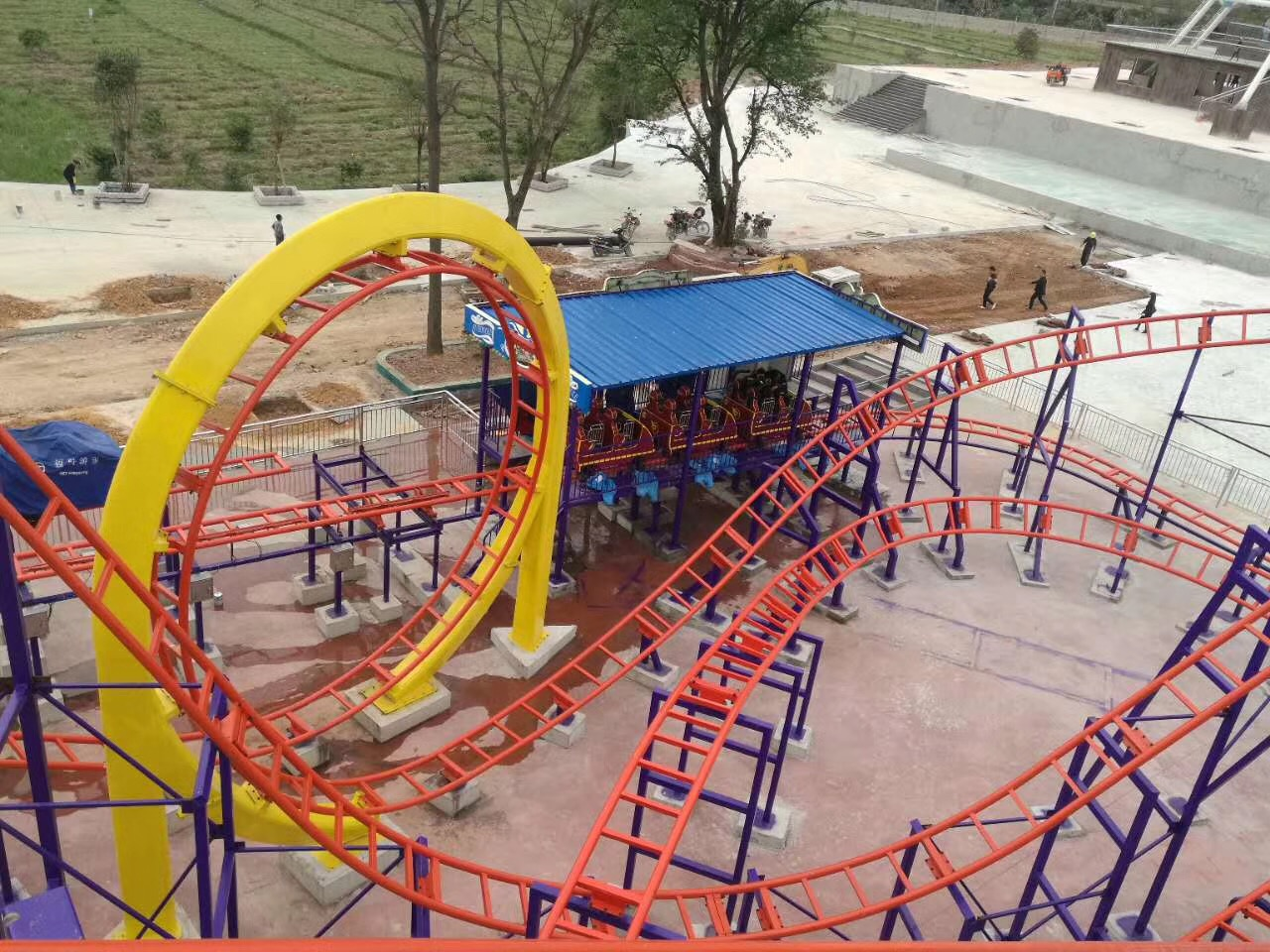 Newest amusement outdoor park equipment roller coaster , amusement ride roller coaster, roller coaster for sale