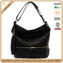 Best designer leather bags branded purses leather hobo black bags for women with adjustable strap