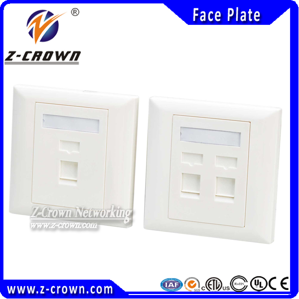 high quality rj45 network 4 port face plate