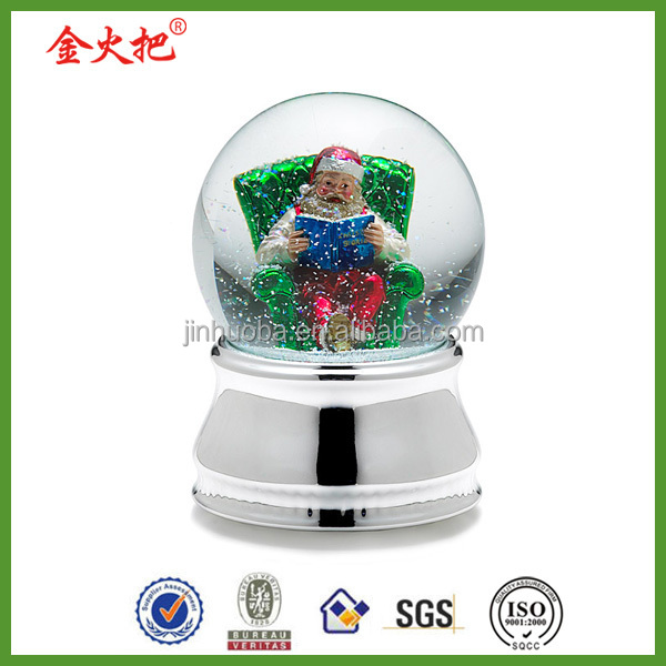 Resin flower fairy snow globe christmas