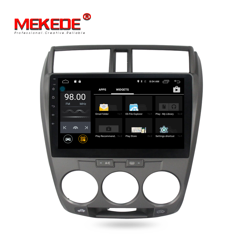 Smart car dvd player gps navigation with android 7.1 quad core 2G RAM and 16G ROM special for Honda City