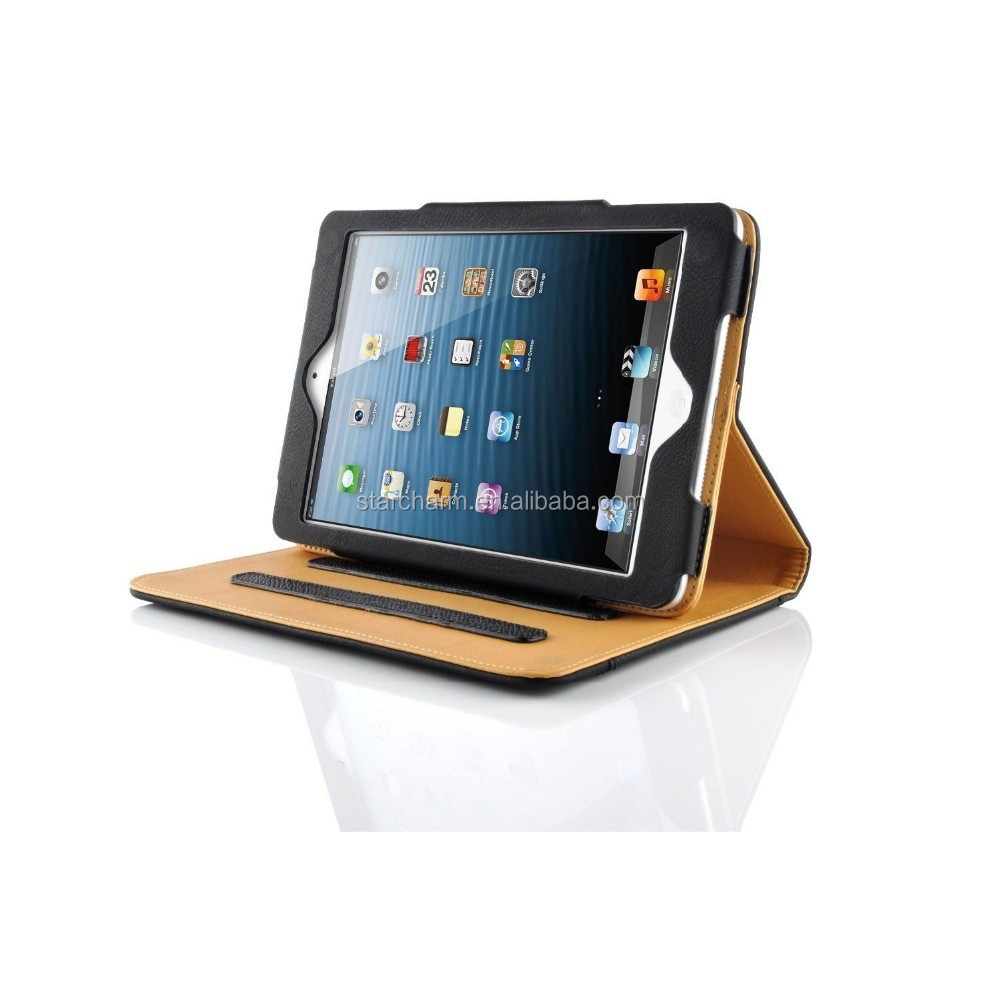 smart cover stand desgin tablet leather case for ipad air