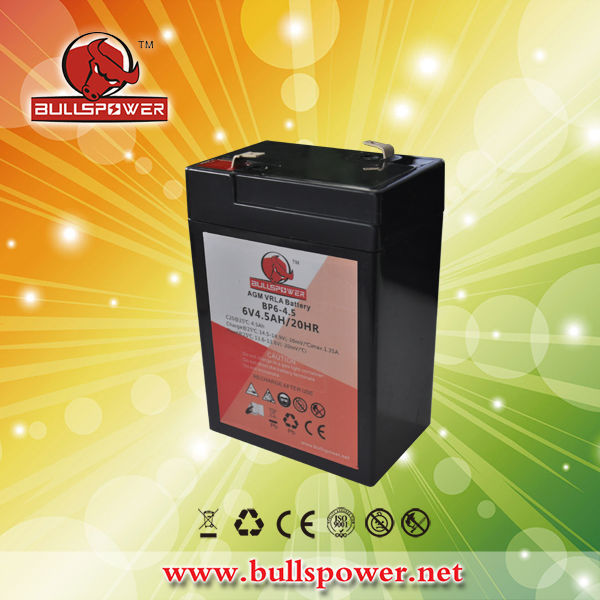 6v 4.5ah 20hr rechargeable battery 6 volt lantern battery life battery 6v 4.5ah BP6-4.5
