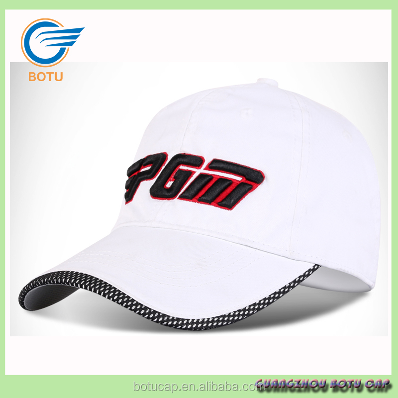 oem branded 3d embroidery good quality white baseball golf sport guangzhou hat