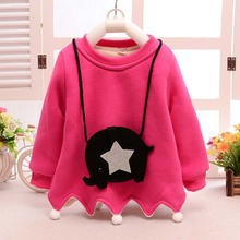 ca50029 hot sale baby clothes long sleeve thick baby winter shirts for girls