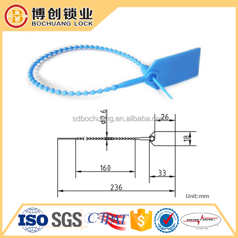 Plastic tags with serial number plastic security seal