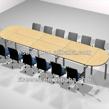 Wood grain laminate top folding combination meeting table