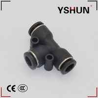 PE E TYPE Union Elbow Plastic quick pneumatic connector for pipe system