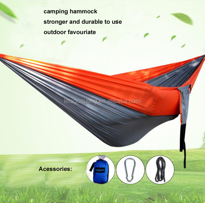 300x200cm Portable Travel Camping Outdoor Nylon Fabric Hammock Parachute Swing Bed+Bag