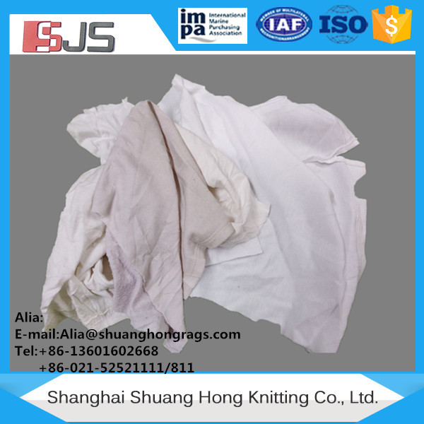 Knit cotton waste white cotton rags