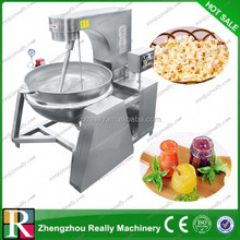 High pressure electric inclinable interlayer cooking pot