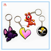 Factory direct customized logo silicone pcv keyring, high quality soft rubber silicone keyring, silicone keychain